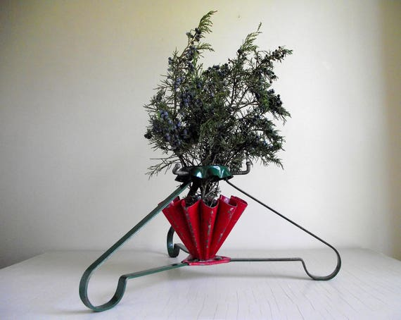Vintage Christmas Tree Stand Retro Lifetime Junior S B Mfg