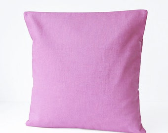 16 inch mauve pink cushion cover, solid  accent decorative pillow cover 40 cm