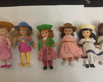 Lot Of 6 Madame Alexander McDonald's assorted Dolls