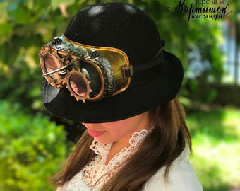 Steampunk Goggles, Airship Pirate, cyber glasses, Steampunk accessories and costume, Victorian Novelty Glasses