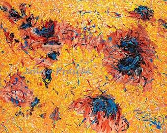 Abstract wall art, Big abstract art, universe art, scientific wall art, Johno Prascak, Johnos Art Studio