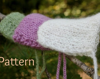 Knitting Pattern Newborn Lacy Baby Bonnet, Mohair Photography Prop, Instant Download