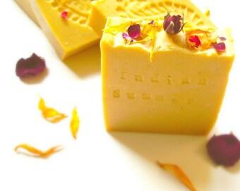 Indian Summer Honeysuckle Handmade Natural Soap