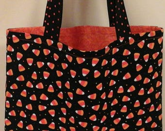 Candy Corn Reversible Trick or Treat Bag