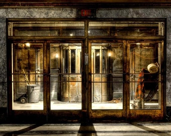 """Neglected Beauty, Fine Art Print, Abandoned Building, Chicago Architecture, color photography """"Welcome"""""""