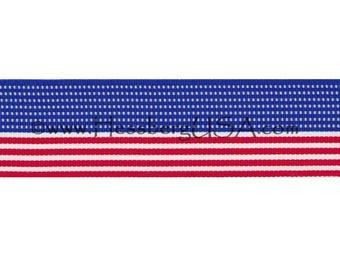 "American Flag Ribbon 1 3/8"""
