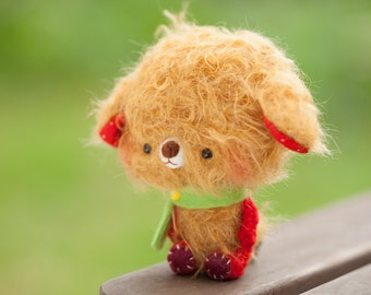 Stuffed animal bear, softie toy, plushie, blythe pet - made to order - Tulo -