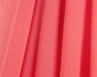 Knee Length Chiffon Ballet Skirt in Coral (Pull Up)