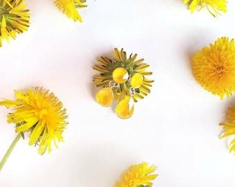 Yellow Crystal Earrings, Sterling Silver, Buttercup Yellow, Modern Everyday Jewelry, Teardrop, Wedding Jewelry, Swarovski Dangle Earrings