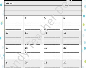 Printable Therapy Calendar and Planner