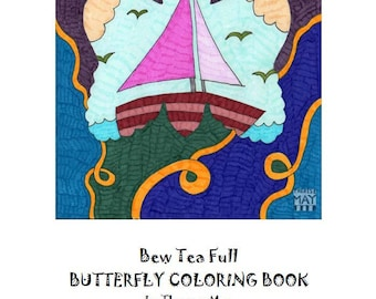 BewTeaFull Butterfy Coloring Book