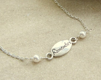 Remember Bracelet, Miscarriage Jewelry, Loss of Loved One, Gift for Loss, Remembrance Gift, Remembrance Jewelry, Memorial Jewelry