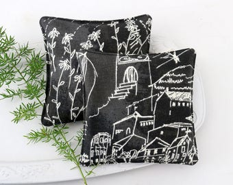 Lavender Sachets, Whimsical Chalkboard Sketches, Teacher Gift
