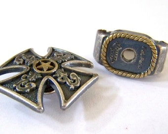 Concho RING ADAPTER Old West Silver with Gold Finish