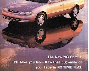 1998 Advertisement Toyota Corolla 98 Zero To Big Smile In No Time Flat  Driver Owner Dealership