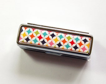 Lipstick holder, Lipstick case, lipstick travel case, Lipbalm Case, lipstick case with mirror, gift for her, Bright colors (4938)
