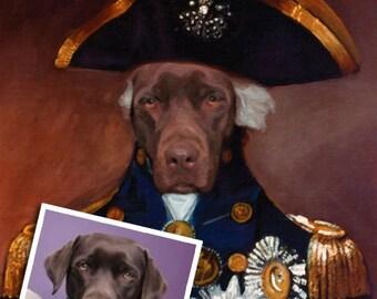 Custom dog portrait, Military Dog Portrait, Pet portrait from photo, Personalized gift