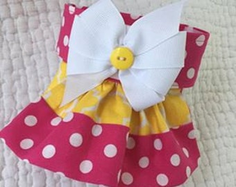 Dog Diaper with a  Removable Bow