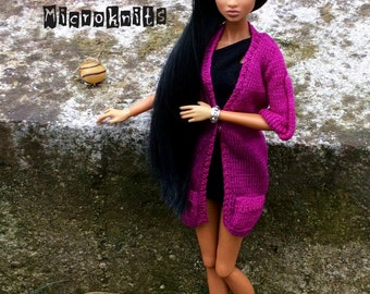 PRE-ORDER - Knitted cardigan sweater outfit dress Fashion Royalty FR2 NuFace Poppy Parker Barbie