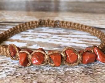 Red Jasper Bracelet / Healing Crystal Bracelet / Chakra Jewelry / Healing Crystal Jewelry / Raw Crystal Jewelry / Lapis Lazuli Jewelry