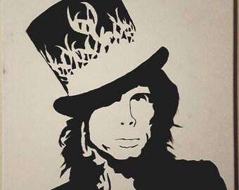 Steven Tyler silhouette