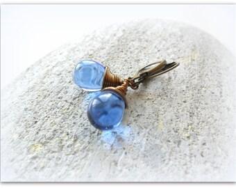 Teardrop Sapphire Blue Cobalt Royal Blue Czech Crystal Earrings Wire Wrap Earrings  Etsy UK Bridesmaid Earrings Glass Tear Drop Earrings