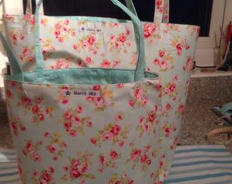Floral design handmade bag