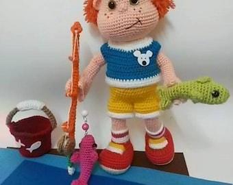 FISHER BOY-Amigurumi Crochet Pattern-PDF