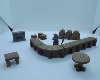 28mm Tabletop gaming Tavern setup. For DnD Dungeons and dragons 40k Cthulhu etc