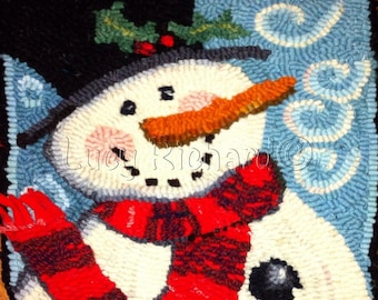 PDF Pattern Instant Download for Alexander Keith Snowman Rug Hooking, Rug Punching or Punchneedle