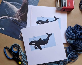 Gift Cards 3 PER PACK Cute Little Whale