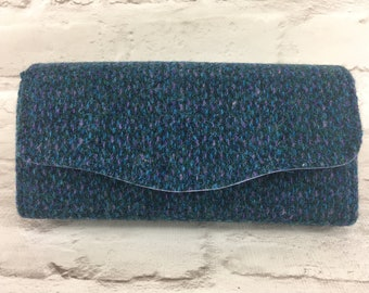 Harris Tweed clutch bag, purse, necessary clutch wallet, evening bag
