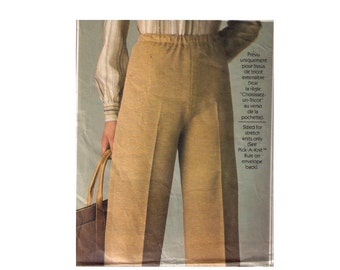 Simplicity 8185, 70s sewing pattern, size 6-8 women's high waisted straight pants pattern