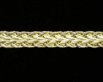 "625 Metallic gimp trim - ""Arrow"" - Bright Gold - 3/8"" (9mm), gold gimp, metallic gimp trim, gold metallic gimp, metallic gold trim"