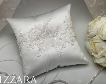 royal wedding ceremony pillow wedding white Ring Bearer Pillow white lace Wedding royal pillow Wedding white Ring Bearer Pillow white