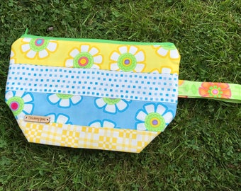 REDUCED - Yellow & Blue Project Bag