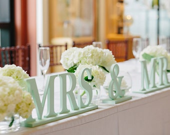 Mr and Mrs Sign for Wedding - Wedding Sign Table Decor Mr and Mrs- Mr & Mrs Table Sign ( Item - MB100 )