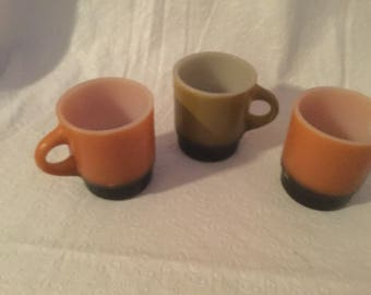 Vintage fire king  anchor  hocking coffee mugs