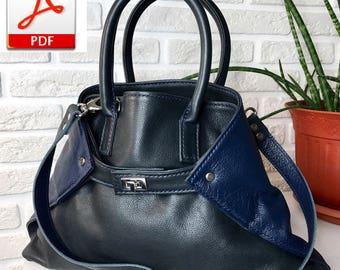 women leather tote bag pdf pattern