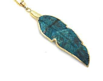 Ocean Jasper Leaf Necklace