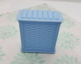 Marx Marxie Mansion Blue Bathroom Hamper  Fits 3/4 Renwal Soft Plastic Laundry