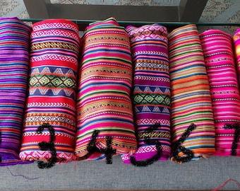 Ethnic fabric peruvian fabric aguayo fabric tribal fabric free shipping