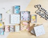Boîte à message personnalisée (grand format) / boîte d'allumettes / diorama papier miniature / Matchbox décoratif / Message personnalisé