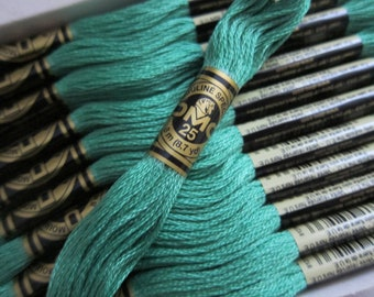 912, Light Emerald Green, DMC Cotton Embroidery Floss - 8m Skeins - Available in Full (12-skein) Boxes - Get Up To 50% OFF, see Description