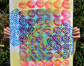 Bright & Cheery Patterned Screenprint