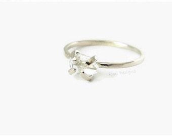 White Gold Engagement Ring, Diamond Engagement Ring, Herkimer Engagement Ring, Engagement Ring, 14K Gold, Anniversary Ring