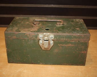 Vintage Metal Storage Box - item #2837