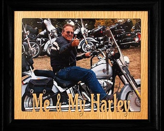 8x10 ME & MY HARLEY Landscape Picture Frame ~ Wonderful Gift for the Harley Davidson Biker in your Life!!