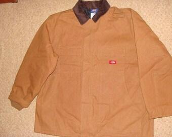 Dickies jacket, brown jacket, vintage parka jacket, 90s hip-hop clothing, 1990s hip hop, og, gangsta rap, size XL