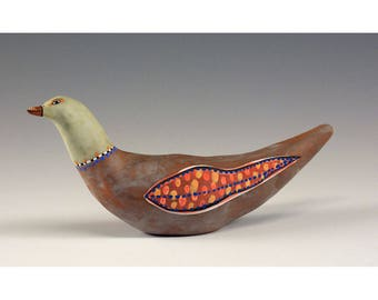 Pasha - Sculpted Ceramic Bird by Jenny Mendes